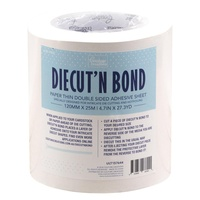 Diecut n Bond Double-Sided Tape 25m x 12cm Roll