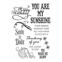 Couture Creations Stamp Set Sunshine Flourishes