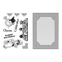 Embossing Folder + Stamp Set Ritz Collection Cubic Celebration