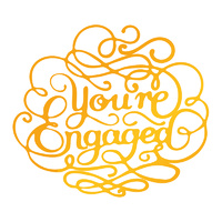 Ultimate Crafts Classic Sentiments Hotfoil Stamp You're Engaged