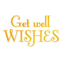 Ultimate Crafts Classic Sentiments Hotfoil Stamp Get Well Wishes