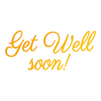 Ultimate Crafts Classic Sentiments Hotfoil Stamp Get Well Soon