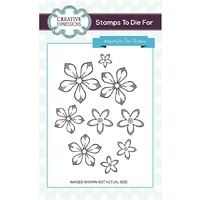 Sue Wilson Stamps Orange Blossom Shaded UMS661