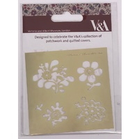 Victoria and Albert Museum Brass Embossing Stencil Fleur