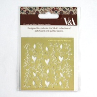 Victoria and Albert Museum Brass Embossing Stencil Vines