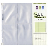 12x12 Album Refills (6)4X6 Portrait Photo Sleeve for Ring Binder Albums We R Memory Keepers