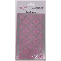 Xcut Stitch and Craft Brass Embossing Stencil Patchwork