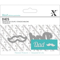 Xcut Dies Mini Sentiment Die Dad 2pcs