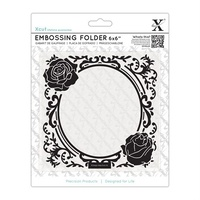 Xcut Embossing Folder Rose Frame 6x6