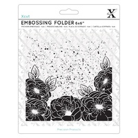 Xcut Embossing Folder Full Bloom Roses 6x6