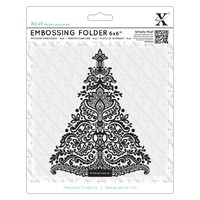 Xcut Embossing Folder Arts And Crafts Tree 6x6