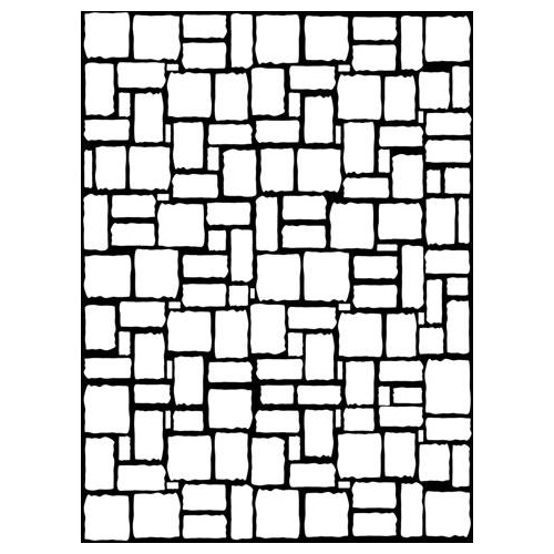 DARICE Embossing Folder Brick Wall 10.5cm x 14.5cm