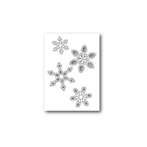 Poppystamps Dies Stitched Snowflake Cutouts 1305