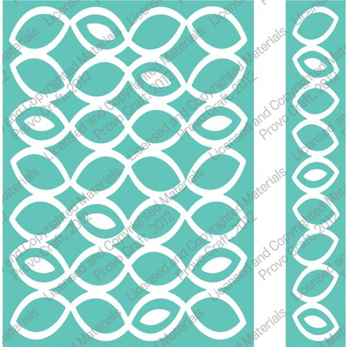 CUTTLEBUG Embossing Folder Papaya Halves Border Set 5x7