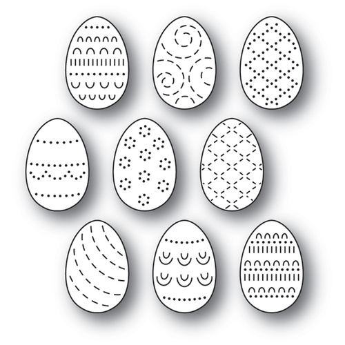 Poppystamps Die Folk Decorated Eggs 2180