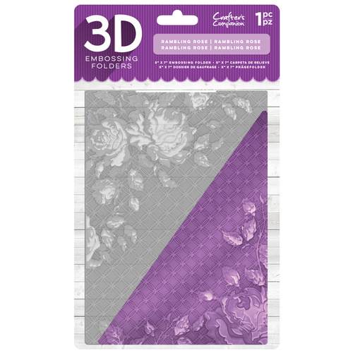 Crafter's Companion 3D Embossing Folder 5X7 Rambling Rose