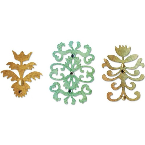 Sizzix Sizzlits Floral Insignia Die Set 657739