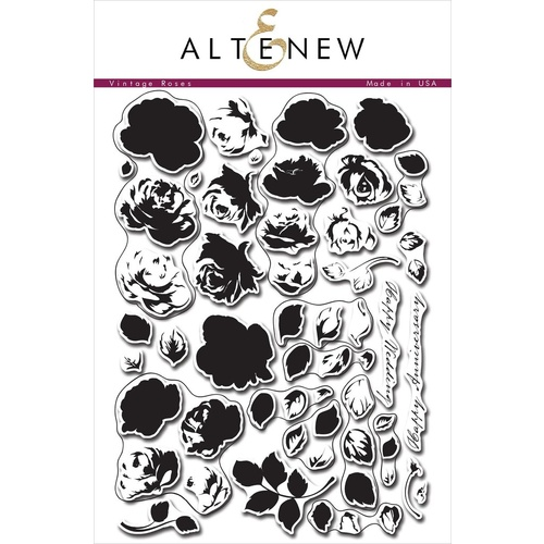 Altenew Vintage Roses Stamp Set ALT1008