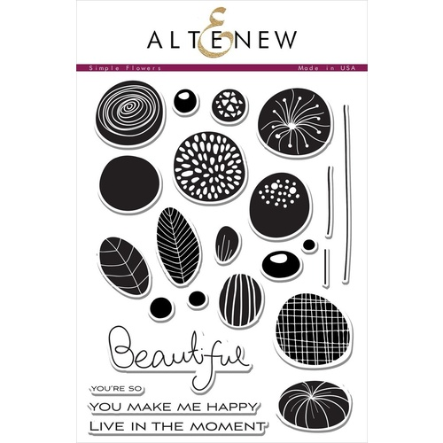 Altenew Simple Flowers Stamp Set ALT1413