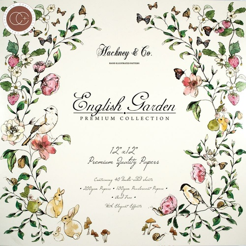 Craft Consortium Double-Sided Paper Pad 12x12 40/Pkg English Garden