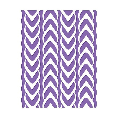 Couture Creations Embossing Folder A2 Harmony Collection Knitted