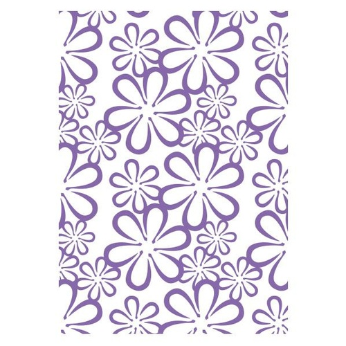 Couture Creations Embossing Folder A2 Ambassador Collection Retro Flowers