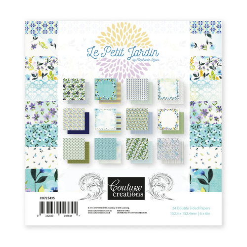 6x6 Couture Creations Le Petit Jardin Collection Paper Pad