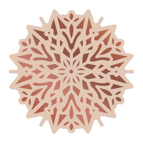 Cut and Foil Die Hotfoil Stamp Highland Christmas - Poinsettia Doily(1pc)