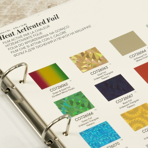 GoPress & Foil Heat Activated Foil Swatch Book