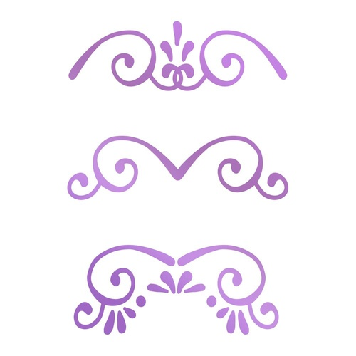 Couture Creations Hotfoil Stamp Butterfly Gardens Borders