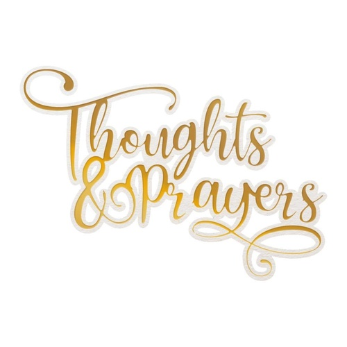 Couture Creations Cut Foil Emboss Dies Delightful Sentiments Thoughts & Prayers