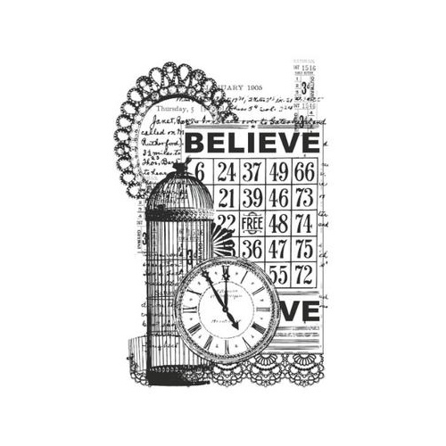 KaiserCraft Clear Stamps Vintage Believe CS832