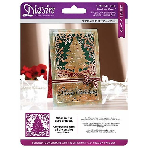 Die'sire Dies Create-A-Card 5x5 Christmas Cheer