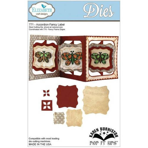 Elizabeth Craft Designs Dies Pop It Up Accordion Fancy Label