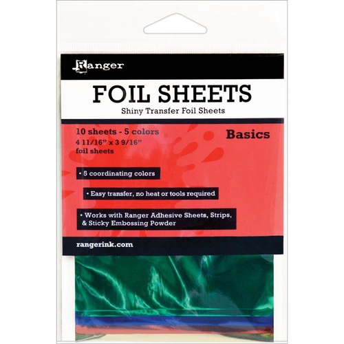 Inkssentials Foil Sheets 4.69X3.56 10/Pkg Basic