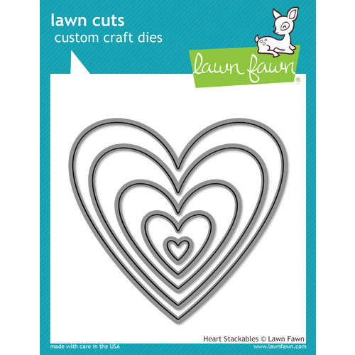 Lawn Fawn Cuts Heart Stackables LF1024
