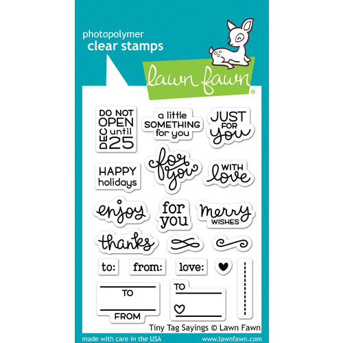 Lawn Fawn Stamps Tiny Tag Sayings LF1222