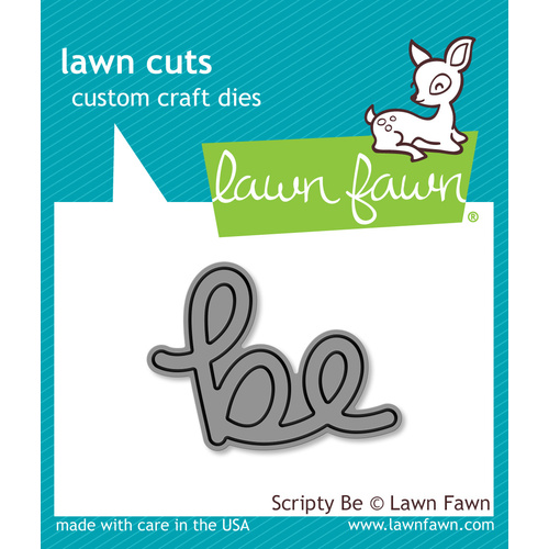 Lawn Fawn Cuts Scripty Be Die LF1266