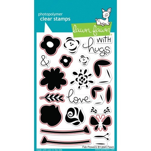 Lawn Fawn Fab Flowers Stamp+Die Bundle