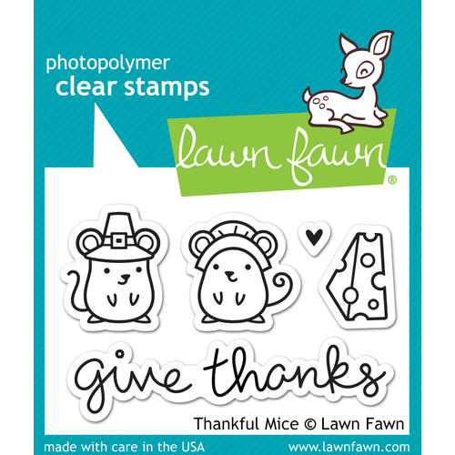 Lawn Fawn Stamps Thankful Mice LF936