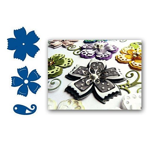 Marianne Design Dies Creatables Ribbon Flowers 2 LR0109