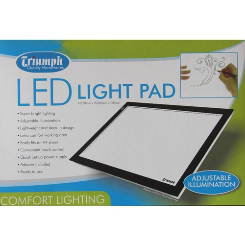 LED Light Box A4 with Stand, Grips and Accessories