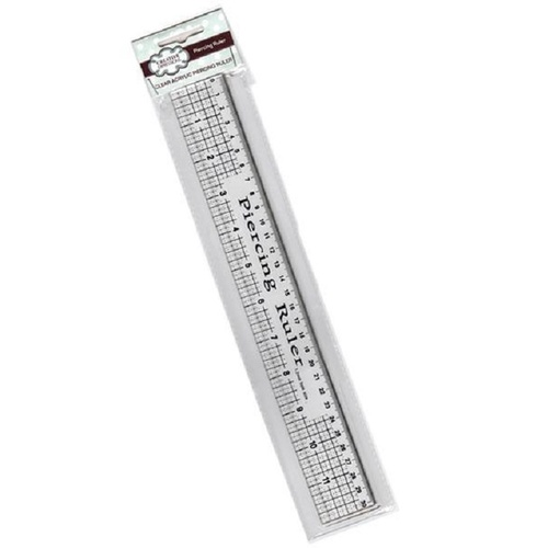 Sue Wilson Piercing Ruler 12 with Metal Edge