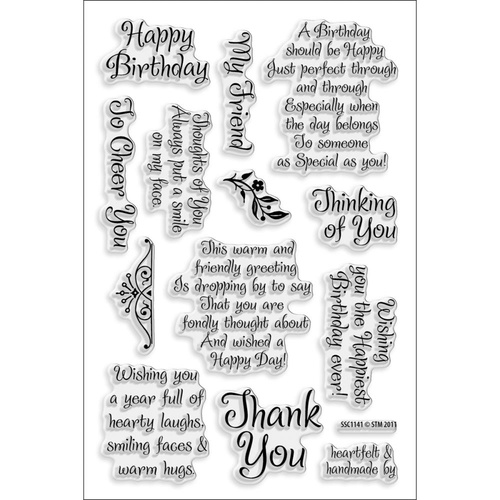 Stampendous Perfectly Clear Stamps Friendly Phrases